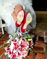 I love it when Brides where colored shoes!